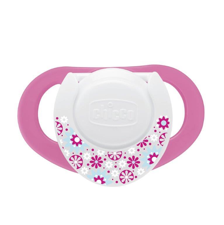 Chicco Пустышка силиконовая Нежность от 6 до 12 месяцев цвет сиреневый розовый 2 шт310410135Способствуют правильному развитию ротовой полости