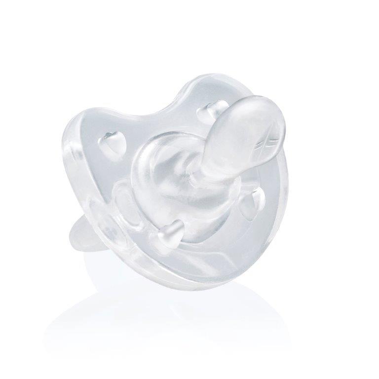 Chicco Пустышка Physio Soft силиконовая от 0 месяцев цвет прозрачный