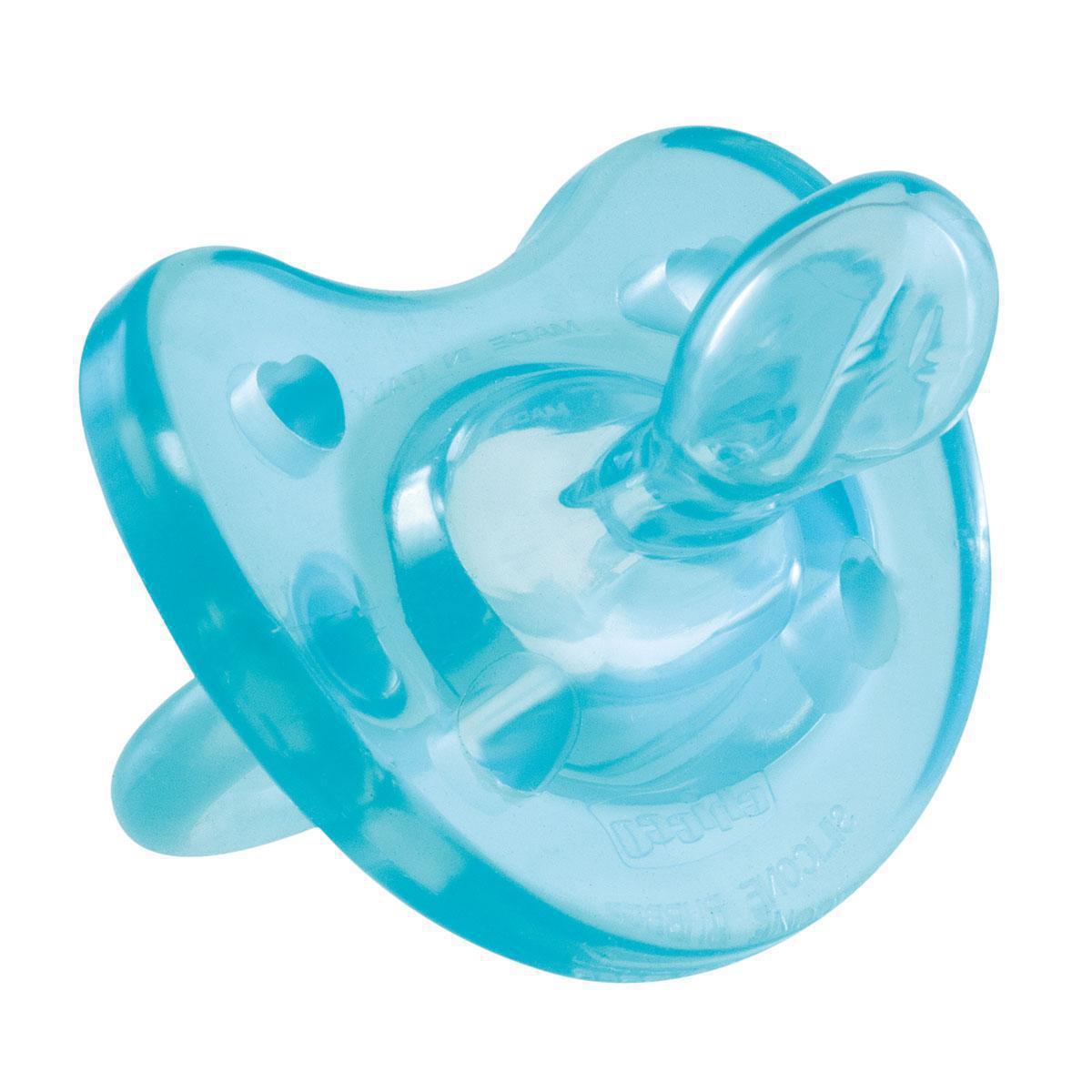 Chicco Пустышка Physio Soft силиконовая от 12 месяцев цвет голубой