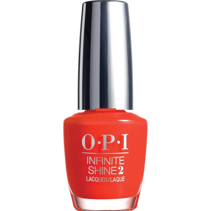 """OPI Infinite Shine Лак для ногтей No Stopping Me Now, 15 млISL07""""Линия Infinite Shine была разработана в ответ на желание покупателей получить лаковые покрытия, по свойствам не уступающие гелевым, которые при этом имели бы самые модные оттенки, обладали уникальной формулой и носили культовые имена, которыми так знаменита компания OPI,"""" - объясняет Сюзи Вайс-Фишманн, соучредитель и исполнительный вице-президент OPI. """"Покрытие Infinite Shine наносится и снимается точно так же, как и обычные лаки для ногтей, однако вы получаете те самые блеск и стойкость, которые отличают гелевую формулу!"""" Палитра Infinite Shine включает в себя широкий спектр оттенков, от нейтральных до ярко-красных, оранжевых, розовых, а далее до темно-серых, синих и черного. Лаки Infinite Shine имеют запатентованную формулу. Каждый флакон снабжен эксклюзивной кистью ProWide™ для идеального нанесения."""