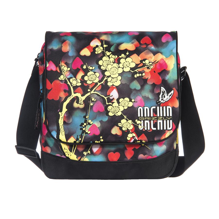 Сумка молодежная Grizzly, цвет: мультиколор, 15 л. MD-659-2/4MD-659-2/4Молодежная сумка, два отделения, клапан на липучках, два передних кармана, задний карман на молнии, внутренний карман на молнии, регулируемый плечевой ремень