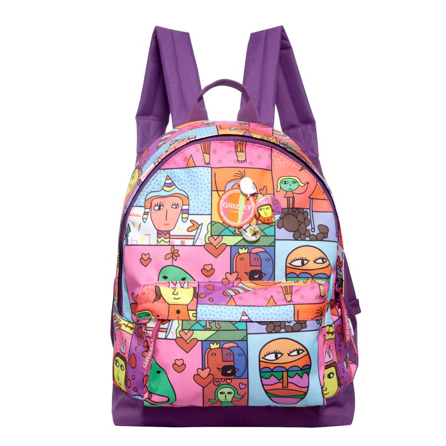 Рюкзак городской Grizzly, цвет: сиреневый, 24 л. RD-646-1/1RD-646-1/1Рюкзак молодежный, одно отделение, объемный карман на молнии на передней стенке, внутренний подвесной карман на молнии, укрепленная спинка, дополнительная ручка-петля, укрепленные лямки