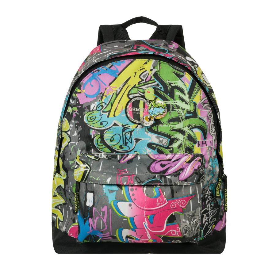 Рюкзак городской Grizzly, цвет: мультиколор, 24 л. RD-646-3/7RD-646-3/7Рюкзак молодежный, одно отделение, объемный карман на молнии на передней стенке, внутренний подвесной карман на молнии, укрепленная спинка, дополнительная ручка-петля, укрепленные лямки