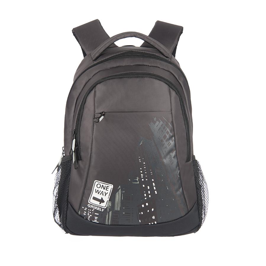Рюкзак городской Grizzly, цвет: серый, белый, 22 л. RU-518-4/8RU-518-4/8Рюкзак молодежный, два отделения, карман на молнии на передней стенке, боковые карманы из сетки, внутренний подвесной карман на молнии, внутренний составной пенал-органайзер, ортопедическая спинка, дополнительная ручка-петля, мягкая укрепленная ручка, нагрудная стяжка-фиксатор, укрепленные лямки