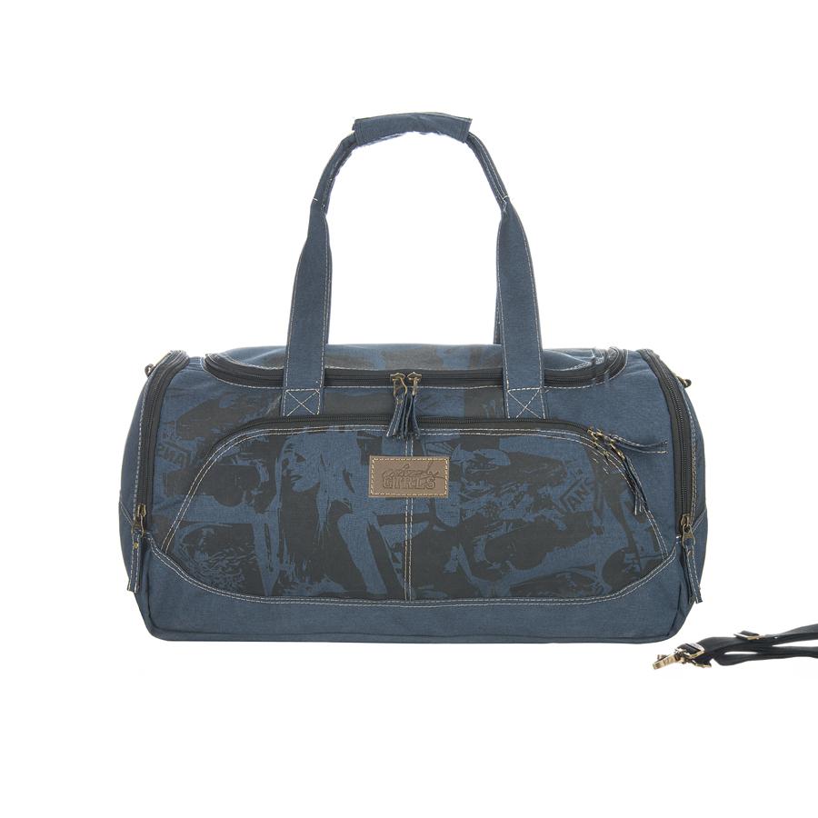 Сумка дорожная Grizzly, цвет: синий, 36 л. TD-525-3/1TD-525-3/1Сумка дорожная, одно отделение, объемный передний карман, два боковых кармана на молнии, внутренний карман на молнии, укрепленное дно с защитными пластиковыми ножками, нерегулируемые ручки, регулируемый съемный плечевой ремень
