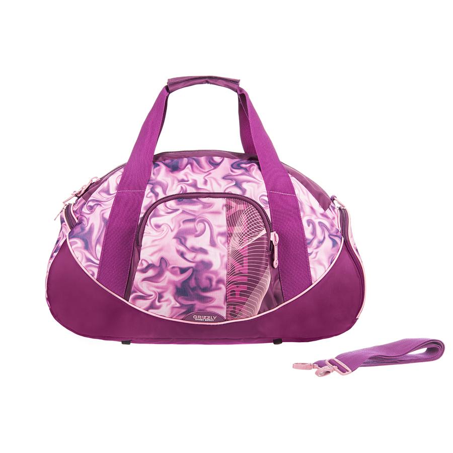 Сумка дорожная Grizzly, цвет: розовый, 38 л. TD-536-3/3TD-536-3/3Дорожная сумка с одним отделением на молнии, с объемным карманом на передней стенке,с внутренним карманом,с двумя ручками и регулируемым ремнем на плечо.