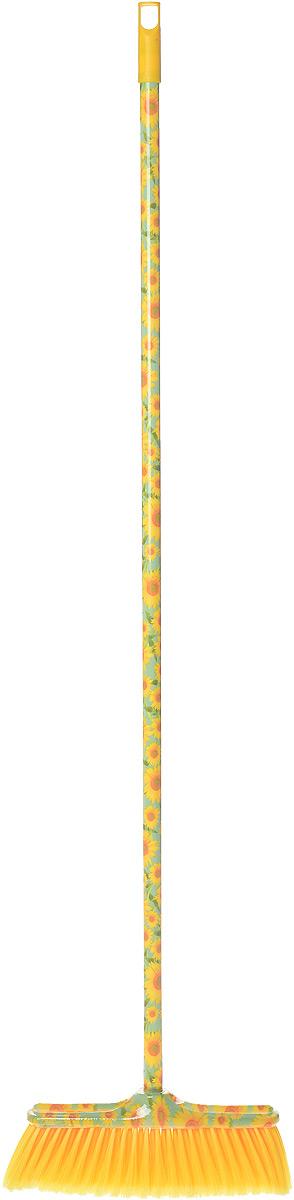 Швабра Mr. Brush Фантазия, цвет: желтый, зеленый3161_желтый, подсолнухиШвабра Mr. Brush Фантазия, выполненная из высококачественного пластика и полимеров, предназначена для уборки в доме. Упругие волоски щетки-насадки не оставят от грязи и следа. Оригинальная, современная, удобная швабра, которую можно подобрать к любому интерьеру, сделает уборку эффективнее и приятнее. Длина ручки: 118 см. Размер рабочей поверхности: 33 см х 11 х 9,5 см. Длина щетинок: 7,5 см.