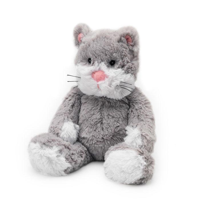 Warmies Мягкая игрушка-грелка Кот цвет серыйCP-CAT-2Мягкая игрушка-грелка Warmies Кот, предназначенная для тепловых процедур, обязательно поднимет настроение своему обладателю. Грелка, выполненная из хлопка и полиэстера в виде симпатичного мягкого кота, привлечет внимание не только ребенка, но и взрослого, и сделает процесс использования грелки приятным и комфортным. Игрушка полностью безопасна - состоит из натурального наполнителя: зерен проса и сушеной лаванды. Просо удерживает тепло долгое время, а лаванда обладает успокаивающим, расслабляющим эффектом, помогает заснуть. Лечебные свойства лаванды помогают при простудных заболеваниях. Положите игрушку на 1-2 минуты в микроволновую печь, и она будет греть вас на протяжении 3-4 часов. Оригинальный стиль и великолепное качество исполнения делают эту игрушку-грелку чудесным подарком к любому празднику. Не стирать - специальный шелковый мех легко очищается влажной тряпкой. Наполнитель: обработанные зерна проса, высушенная лаванда.
