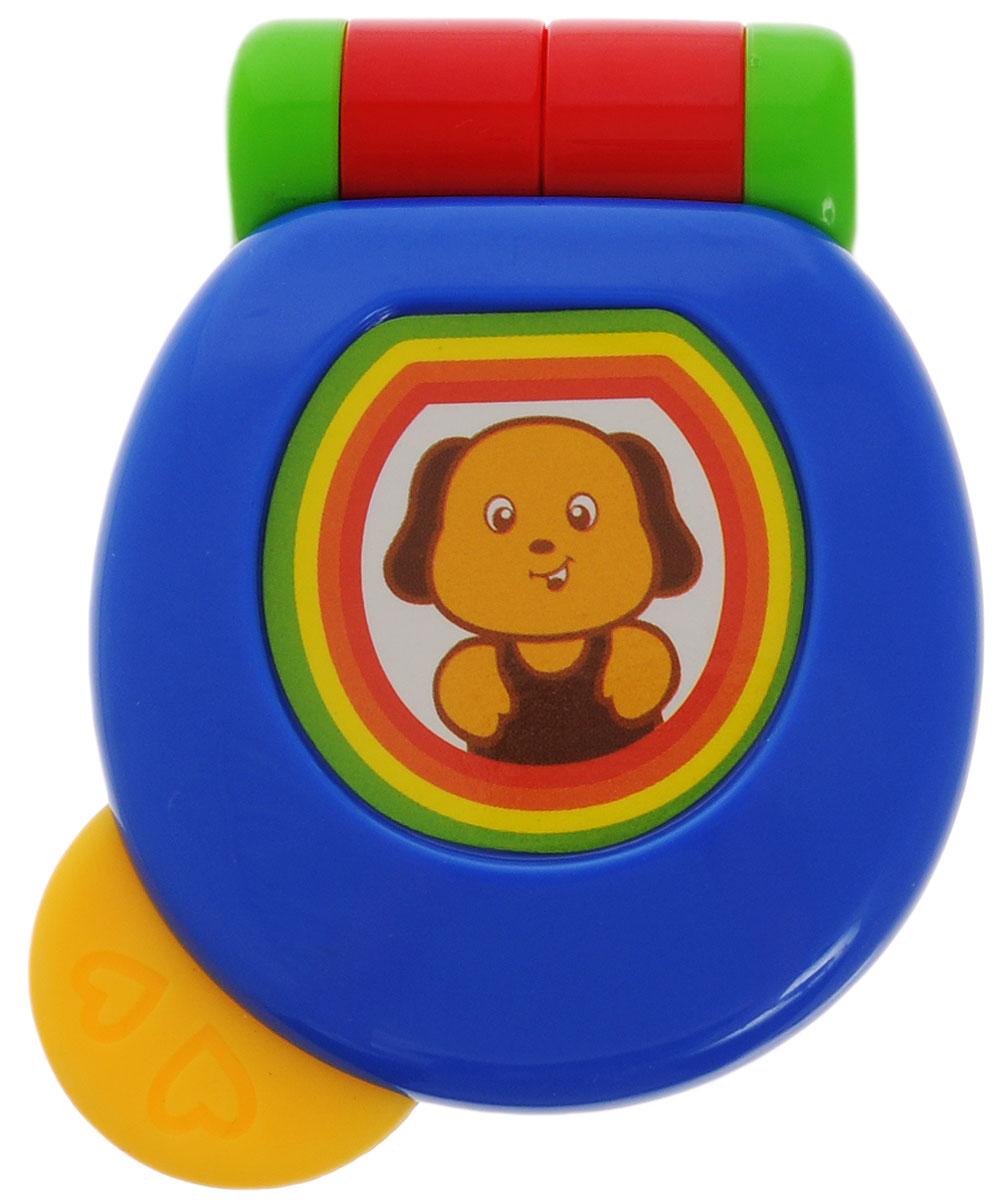 Малышарики Погремушка Веселый телефон цвет синий красный