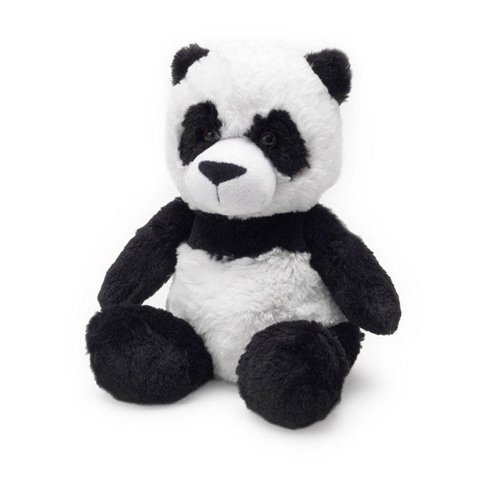 Warmies Мягкая игрушка-грелка Панда цвет белый черныйCP-PAN-1Мягкая игрушка-грелка Warmies Панда, предназначенная для тепловых процедур, обязательно поднимет настроение своему обладателю. Грелка, выполненная из хлопка и полиэстера в виде симпатичной мягкой панды, привлечет внимание не только ребенка, но и взрослого, и сделает процесс использования грелки приятным и комфортным. Глазки у панды пластиковые. Игрушка полностью безопасна - состоит из натурального наполнителя: зерен проса и сушеной лаванды. Просо удерживает тепло долгое время, а лаванда обладает успокаивающим, расслабляющим эффектом, помогает заснуть. Лечебные свойства лаванды помогают при простудных заболеваниях. Положите игрушку на 1-2 минуты в микроволновую печь, и она будет греть вас на протяжении 3-4 часов. Оригинальный стиль и великолепное качество исполнения делают эту игрушку-грелку чудесным подарком к любому празднику. Не стирать - специальный шелковый мех легко очищается влажной тряпкой. Наполнитель: обработанные зерна проса,...