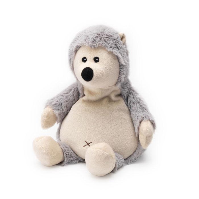 Warmies Мягкая игрушка-грелка Ежик цвет светло-серыйCP-HED-1Мягкая игрушка-грелка Warmies Ежик, предназначенная для тепловых процедур, обязательно поднимет настроение своему обладателю. Грелка, выполненная из хлопка и полиэстера в виде симпатичного мягкого ежика, привлечет внимание не только ребенка, но и взрослого, и сделает процесс использования грелки приятным и комфортным. Игрушка полностью безопасна - состоит из натурального наполнителя: зерен проса и сушеной лаванды. Просо удерживает тепло долгое время, а лаванда обладает успокаивающим, расслабляющим эффектом, помогает заснуть. Лечебные свойства лаванды помогают при простудных заболеваниях. Положите игрушку на 1-2 минуты в микроволновую печь, и она будет греть вас на протяжении 3-4 часов. Оригинальный стиль и великолепное качество исполнения делают эту игрушку-грелку чудесным подарком к любому празднику. Не стирать - специальный шелковый мех легко очищается влажной тряпкой. Наполнитель: обработанные зерна проса, высушенная лаванда.