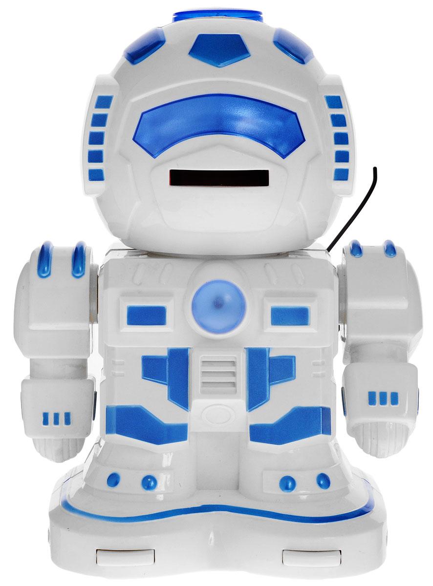 ABtoys Робот на радиоуправлении Вася цвет белый голубой