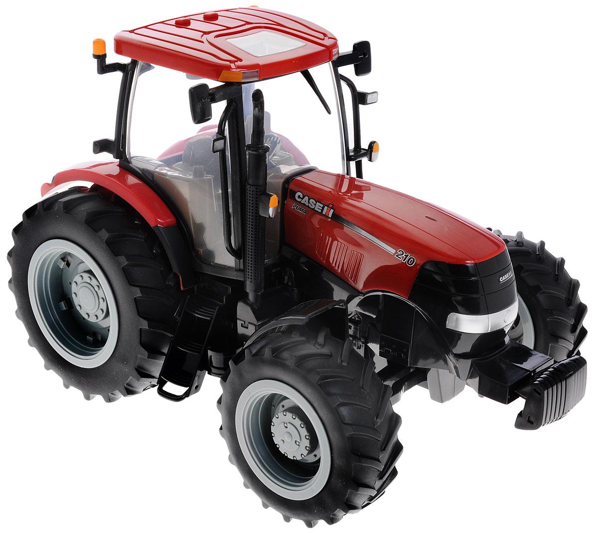 Tomy Трактор Case IH 210 Puma42424A1Трактор Tomy Case IH 210 Puma - это уменьшенная копия настоящего сельскохозяйственного трактора, выполненная в высоком качестве и с большим вниманием к деталям. Универсальный компактный трактор идеально подходит для ролевых игр. Модель имеет реалистичную кабину с сиденьем водителя, вращающимся рулем и открывающимся капотом, предоставляя доступ к двигателю. У трактора мощные прорезиненные колеса, что обеспечивает сохранность напольного покрытия. Игрушка оснащена реалистичными световыми и звуковыми эффектами. Таким трактором можно играть дома и на улице. Рекомендуется докупить 3 батарейки напряжением 1,5V типа ААА (товар комплектуется демонстрационными).