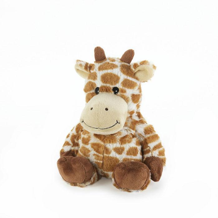 Warmies Мягкая игрушка-грелка Жираф цвет рыжийCP-GIR-2Мягкая игрушка-грелка Warmies Жираф, предназначенная для тепловых процедур, обязательно поднимет настроение своему обладателю. Грелка, выполненная из хлопка и полиэстера в виде симпатичного мягкого жирафика, привлечет внимание не только ребенка, но и взрослого, и сделает процесс использования грелки приятным и комфортным. Игрушка полностью безопасна - состоит из натурального наполнителя: зерен проса и сушеной лаванды. Просо удерживает тепло долгое время, а лаванда обладает успокаивающим, расслабляющим эффектом, помогает заснуть. Лечебные свойства лаванды помогают при простудных заболеваниях. Положите игрушку на 1-2 минуты в микроволновую печь, и она будет греть вас на протяжении 3-4 часов. Оригинальный стиль и великолепное качество исполнения делают эту игрушку-грелку чудесным подарком к любому празднику. Не стирать - специальный шелковый мех легко очищается влажной тряпкой. Наполнитель: обработанные зерна проса, высушенная лаванда. ...