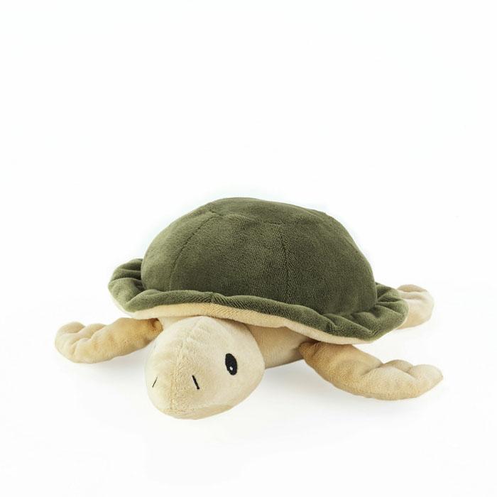Warmies Мягкая игрушка-грелка Черепашка цвет бежевый зеленыйCP-TUR-1Мягкая игрушка-грелка Warmies Черепашка, предназначенная для тепловых процедур, обязательно поднимет настроение своему обладателю. Грелка, выполненная из хлопка и полиэстера в виде симпатичной мягкой черепашки, привлечет внимание не только ребенка, но и взрослого, и сделает процесс использования грелки приятным и комфортным. Игрушка полностью безопасна - состоит из натурального наполнителя: зерен проса и сушеной лаванды. Просо удерживает тепло долгое время, а лаванда обладает успокаивающим, расслабляющим эффектом, помогает заснуть. Лечебные свойства лаванды помогают при простудных заболеваниях. Положите игрушку на 1-2 минуты в микроволновую печь, и она будет греть вас на протяжении 3-4 часов. Оригинальный стиль и великолепное качество исполнения делают эту игрушку-грелку чудесным подарком к любому празднику. Не стирать - специальный шелковый мех легко очищается влажной тряпкой. Наполнитель: обработанные зерна проса, высушенная лаванда. ...