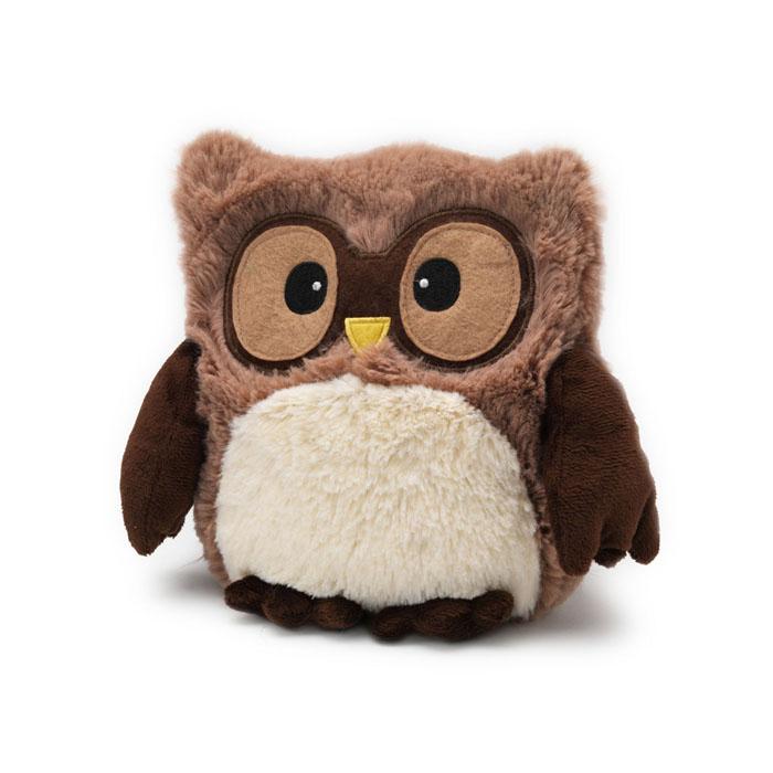 Warmies Мягкая игрушка-грелка Совенок цвет коричневыйHOO-BRO-1Мягкая игрушка-грелка Warmies Совенок, предназначенная для тепловых процедур, обязательно поднимет настроение своему обладателю. Грелка, выполненная из хлопка и полиэстера в виде забавного совенка, привлечет внимание не только ребенка, но и взрослого, и сделает процесс использования грелки приятным и комфортным. Игрушка полностью безопасна - состоит из натурального наполнителя: зерен проса и сушеной лаванды. Просо удерживает тепло долгое время, а лаванда обладает успокаивающим, расслабляющим эффектом, помогает заснуть. Лечебные свойства лаванды помогают при простудных заболеваниях. Положите игрушку на 1-2 минуты в микроволновую печь, и она будет греть вас на протяжении 3-4 часов. Оригинальный стиль и великолепное качество исполнения делают эту игрушку-грелку чудесным подарком к любому празднику. Не стирать - специальный шелковый мех легко очищается влажной тряпкой. Наполнитель: обработанные зерна проса, высушенная лаванда.