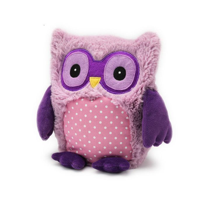 Warmies Мягкая игрушка-грелка Совенок цвет пурпурныйHOO-PUR-1Мягкая игрушка-грелка Warmies Совенок, предназначенная для тепловых процедур, обязательно поднимет настроение своему обладателю. Грелка, выполненная из хлопка и полиэстера в виде забавного совенка, привлечет внимание не только ребенка, но и взрослого, и сделает процесс использования грелки приятным и комфортным. Игрушка полностью безопасна - состоит из натурального наполнителя: зерен проса и сушеной лаванды. Просо удерживает тепло долгое время, а лаванда обладает успокаивающим, расслабляющим эффектом, помогает заснуть. Лечебные свойства лаванды помогают при простудных заболеваниях. Положите игрушку на 1-2 минуты в микроволновую печь, и она будет греть вас на протяжении 3-4 часов. Оригинальный стиль и великолепное качество исполнения делают эту игрушку-грелку чудесным подарком к любому празднику. Не стирать - специальный шелковый мех легко очищается влажной тряпкой. Наполнитель: обработанные зерна проса, высушенная лаванда.