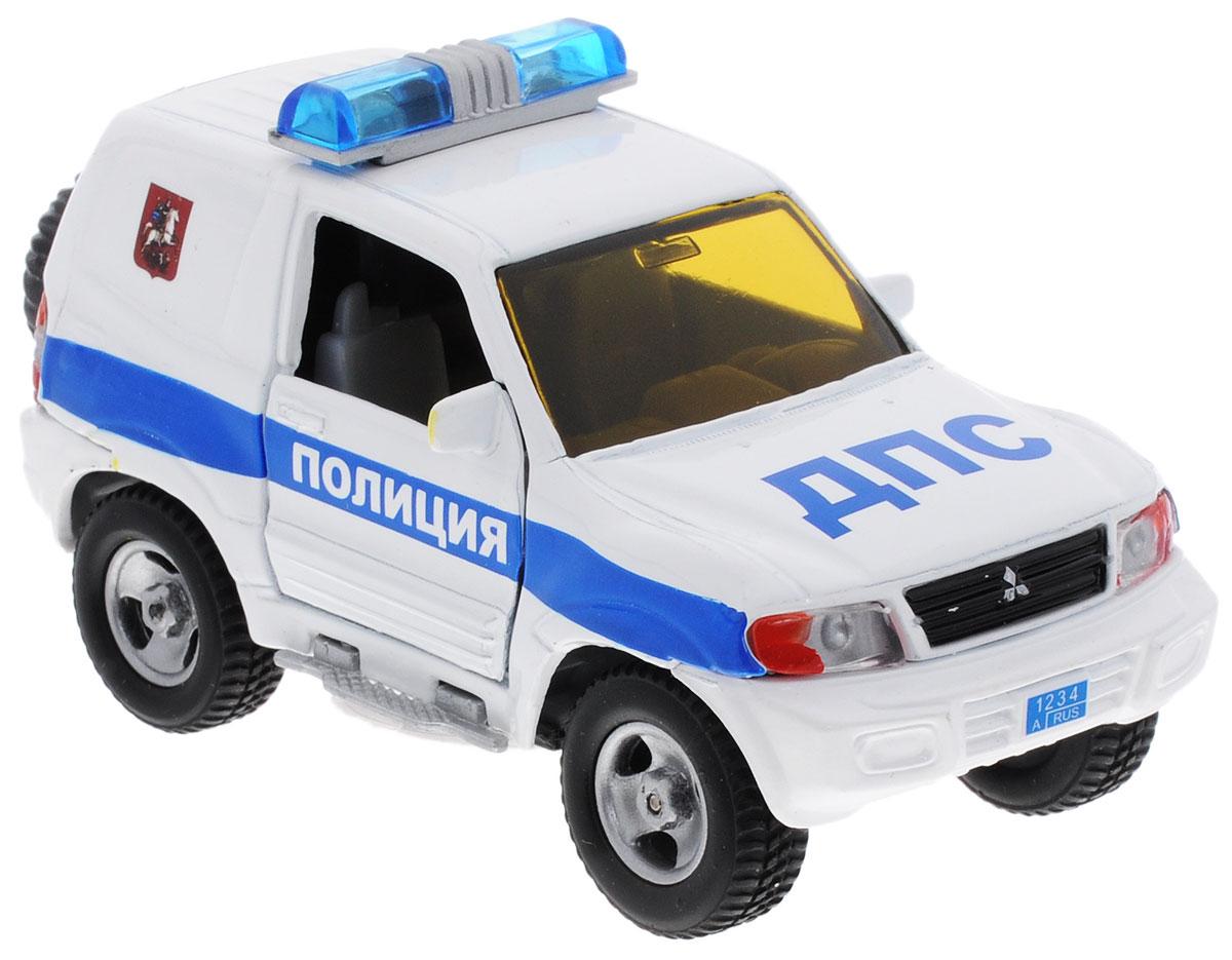 Пламенный мотор Машинка инерционная Mitsubishi Полиция ДПС87518Машинка инерционная Пламенный мотор Mitsubishi. Полиция ДПС - реалистично смоделированная игрушка для маленьких автолюбителей. Отличается хорошей детализацией и качественным видом. В машинку встроен инерционный механизм, который может привезти игрушку в движение, стоит только откатить машинку назад, а затем отпустить. Обладает световыми и звуковыми эффектами. Машинка подойдет для игры как дома, так и на улице. Выполнена из качественных материалов, которые не вредят здоровью ребенка. Масштаб 1:32. Работает от незаменяемых батареек.