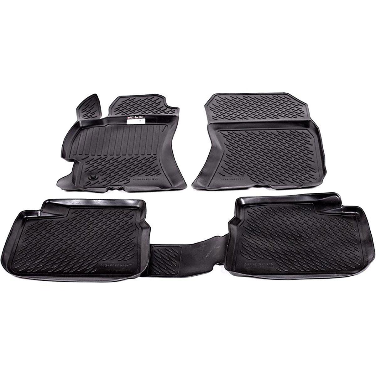 Коврики в салон автомобиля L.Locker, для Subaru Legacy IV sd (03-), 4 шт0240050101Коврики L.Locker производятся индивидуально для каждой модели автомобиля из современного и экологически чистого материала. Изделия точно повторяют геометрию пола автомобиля, имеют высокий борт, обладают повышенной износоустойчивостью, антискользящими свойствами, лишены резкого запаха и сохраняют свои потребительские свойства в широком диапазоне температур (от -50°С до +80°С). Рисунок ковриков специально спроектирован для уменьшения скольжения ног водителя и имеет достаточную глубину, препятствующую свободному перемещению жидкости и грязи на поверхности. Одновременно с этим рисунок не создает дискомфорта при вождении автомобиля. Водительский ковер с предустановленными креплениями фиксируется на штатные места в полу салона автомобиля. Новая технология системы креплений герметична, не дает влаге и грязи проникать внутрь через крепеж на обшивку пола.