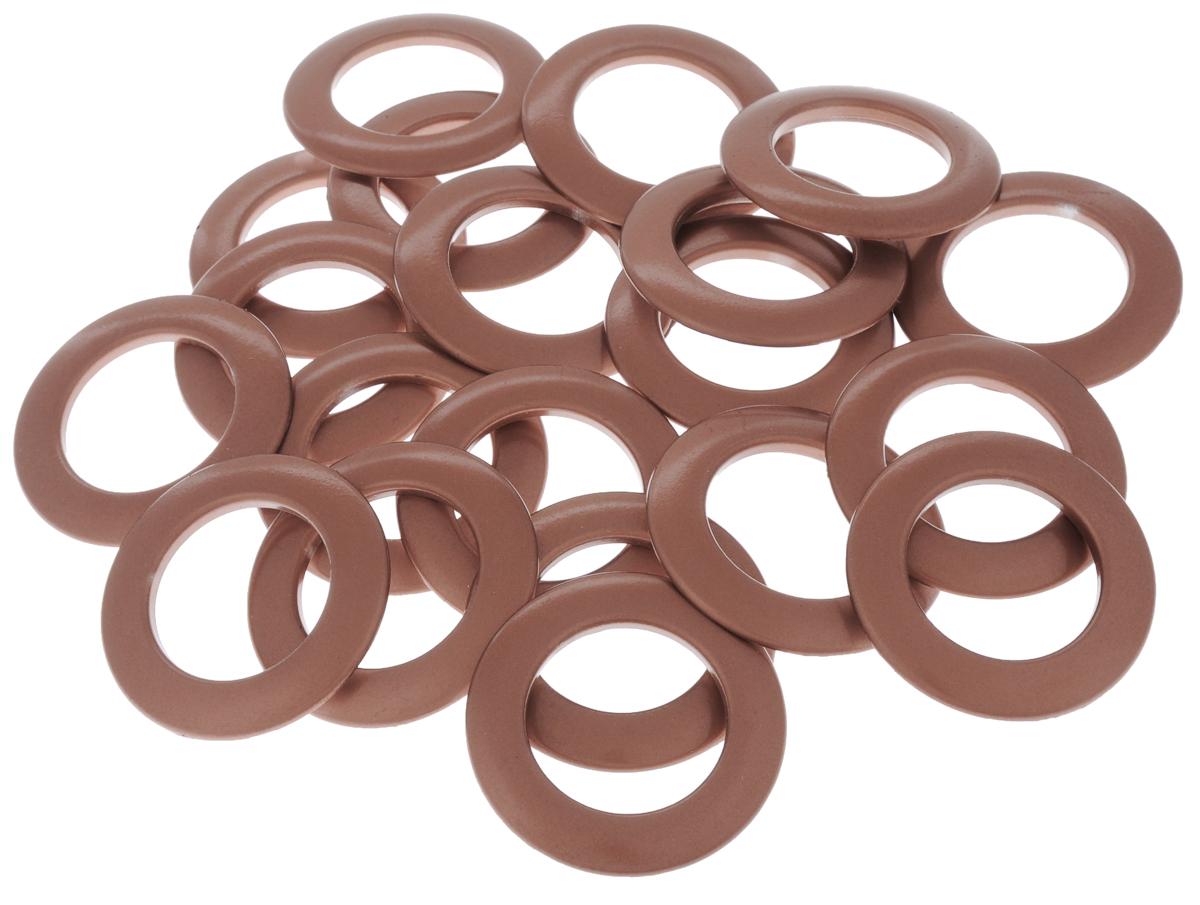 Набор люверсов Belladonna, цвет: терракот, диаметр 35 мм, 10 шт515537Набор Belladonna состоит из 10 люверсов, выполненных из пластика. Люверсы представляют собой кольца особой формы, которые служат для окантовки отверстий в разных материалах. Используются в качестве фурнитуры для кожгалантерейных, текстильных, обувных изделий, также подходят для бумаги и картона. Через люверсы продеваются шнурки, ленты, тесьма. Изделия Belladonna помогут воплотить вашу творческую задумку и добавят вдохновения для новых идей. Внутренний диаметр: 35 мм.