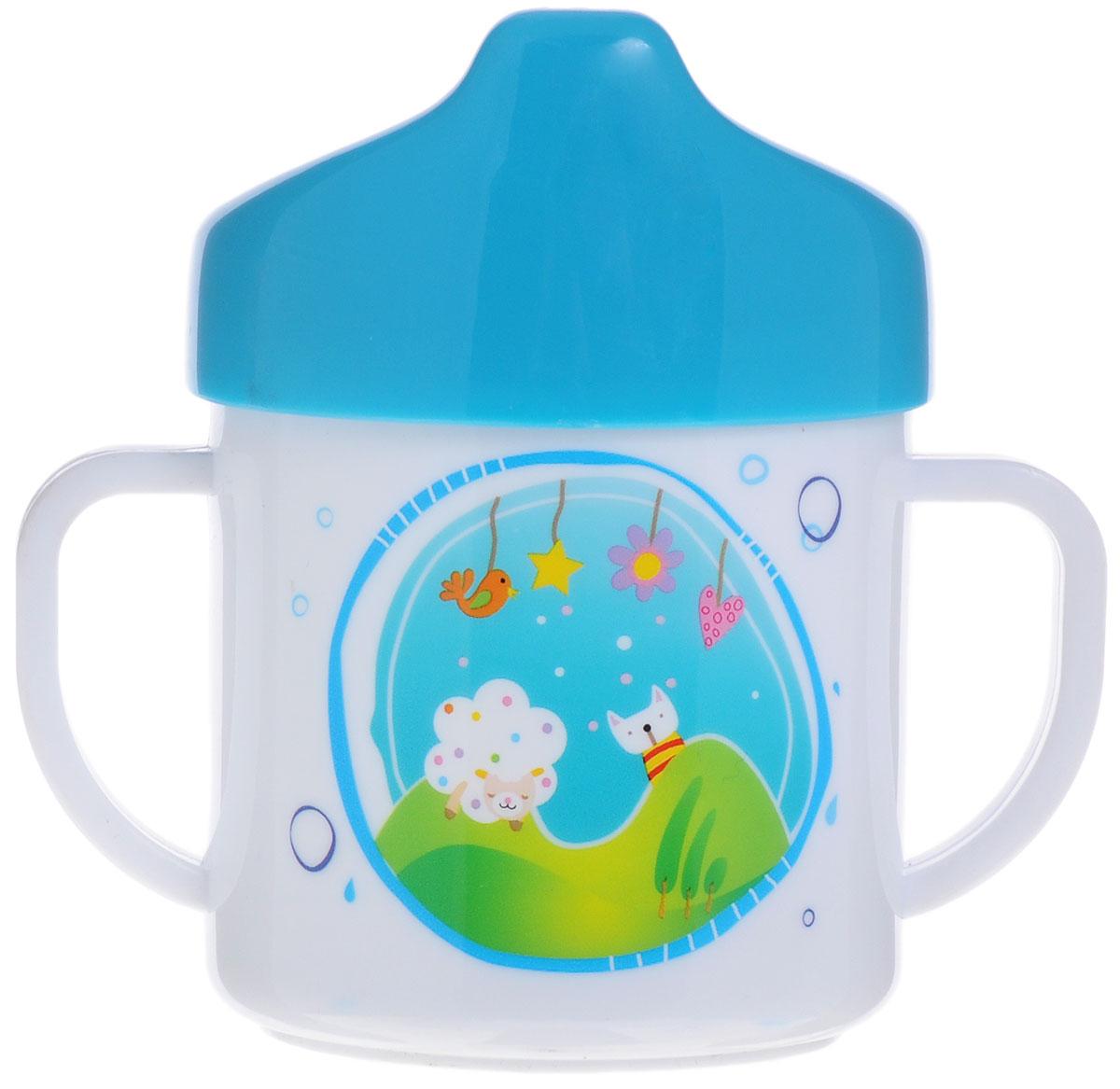 Canpol Babies Чашка-поильник цвет голубой 200 мл4/108_голубойЧашка-поильник Canpol Babies рекомендован для деток, которые переходят от грудного вскармливания или кормления из бутылочки к кружке. Поильник идеально подходит для малышей, ребенку будет удобно держать его благодаря двум ручкам по бокам. Закручивающаяся крышка поильника снабжена носиком для питья, который сделает переход от кормления из бутылочки к питью из чашки более легким и комфортным для ребенка. Поильник украшен яркими изображениями, которые привлекут внимание малыша. Не кипятить, не стерилизовать.