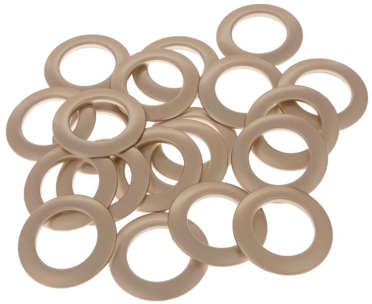 Набор люверсов Belladonna, цвет: медь, диаметр 35 мм, 10 шт515545Набор Belladonna состоит из 10 люверсов, выполненных из пластика. Люверсы представляют собой кольца особой формы, которые служат для окантовки отверстий в разных материалах. Используются в качестве фурнитуры для кожгалантерейных, текстильных, обувных изделий, также подходят для бумаги и картона. Через люверсы продеваются шнурки, ленты, тесьма. Изделия Belladonna помогут воплотить вашу творческую задумку и добавят вдохновения для новых идей. Внутренний диаметр: 35 мм.