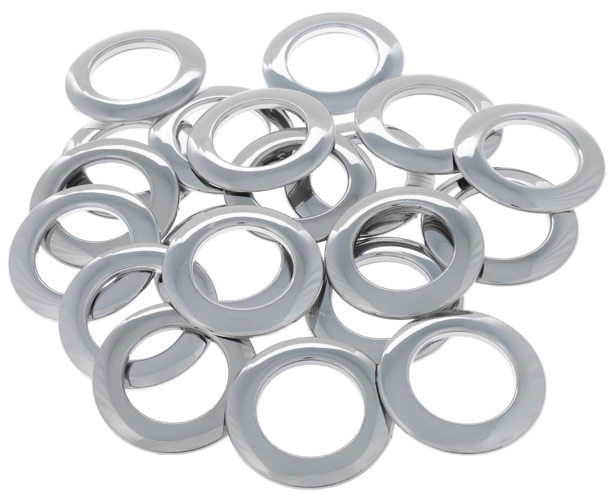 Набор люверсов Belladonna, цвет: блестящее серебро, диаметр 35 мм, 10 шт515531Набор Belladonna состоит из 10 люверсов, выполненных из пластика. Люверсы представляют собой кольца особой формы, которые служат для окантовки отверстий в разных материалах. Используются в качестве фурнитуры для кожгалантерейных, текстильных, обувных изделий, также подходят для бумаги и картона. Через люверсы продеваются шнурки, ленты, тесьма. Изделия Belladonna помогут воплотить вашу творческую задумку и добавят вдохновения для новых идей. Внутренний диаметр: 35 мм.