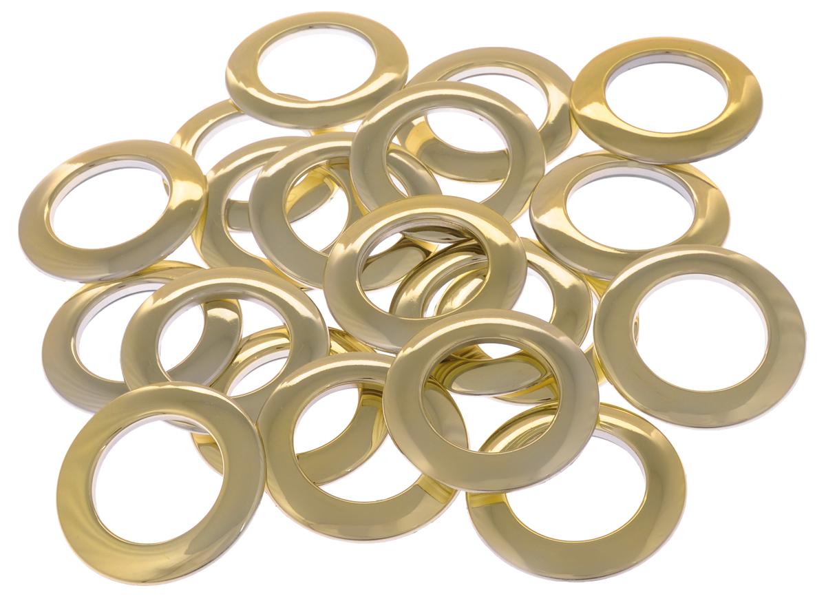 Набор люверсов Belladonna, цвет: золотистый, диаметр 35 мм, 10 шт515530Набор Belladonna состоит из 10 люверсов, выполненных из пластика. Люверсы представляют собой кольца особой формы, которые служат для окантовки отверстий в разных материалах. Используются в качестве фурнитуры для кожгалантерейных, текстильных, обувных изделий, также подходят для бумаги и картона. Через люверсы продеваются шнурки, ленты, тесьма. Изделия Belladonna помогут воплотить вашу творческую задумку и добавят вдохновения для новых идей. Внутренний диаметр: 35 мм.