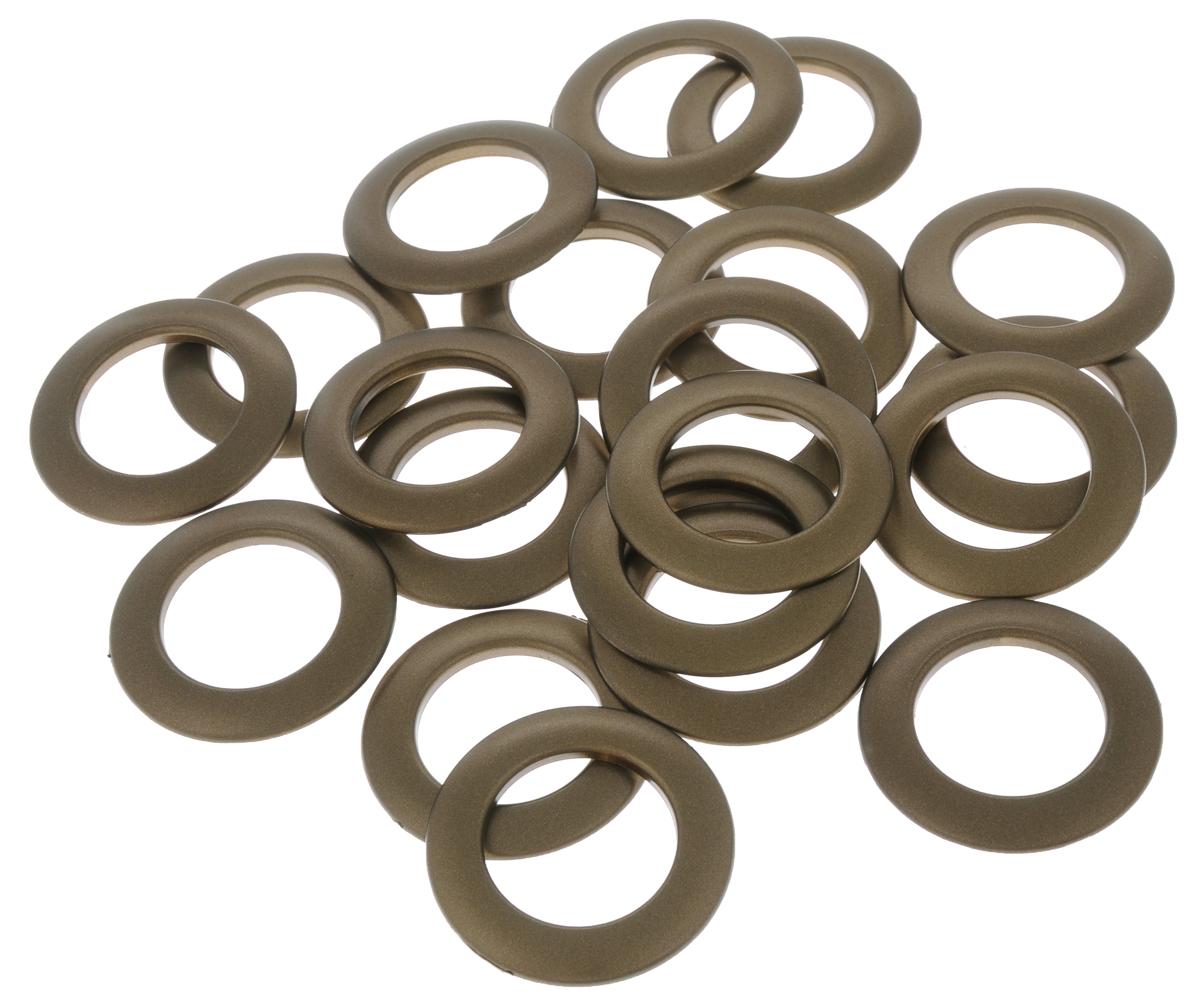 Набор люверсов Belladonna, цвет: латунь, диаметр 35 мм, 10 шт515539Набор Belladonna состоит из 10 люверсов, выполненных из пластика. Люверсы представляют собой кольца особой формы, которые служат для окантовки отверстий в разных материалах. Используются в качестве фурнитуры для кожгалантерейных, текстильных, обувных изделий, также подходят для бумаги и картона. Через люверсы продеваются шнурки, ленты, тесьма. Изделия Belladonna помогут воплотить вашу творческую задумку и добавят вдохновения для новых идей. Внутренний диаметр: 35 мм.