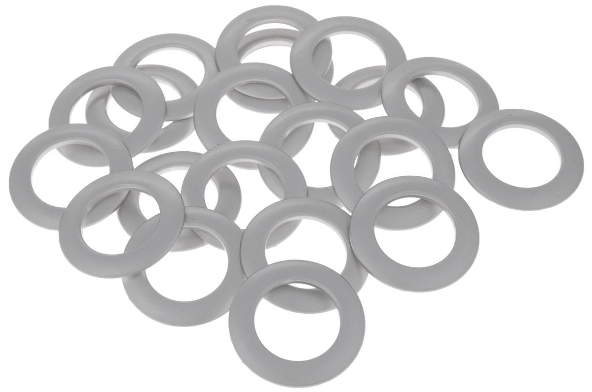 Набор люверсов Belladonna, цвет: матовое серебро, диаметр 35 мм, 10 шт515534Набор Belladonna состоит из 10 люверсов, выполненных из пластика. Люверсы представляют собой кольца особой формы, которые служат для окантовки отверстий в разных материалах. Используются в качестве фурнитуры для кожгалантерейных, текстильных, обувных изделий, также подходят для бумаги и картона. Через люверсы продеваются шнурки, ленты, тесьма. Изделия Belladonna помогут воплотить вашу творческую задумку и добавят вдохновения для новых идей. Внутренний диаметр: 35 мм.