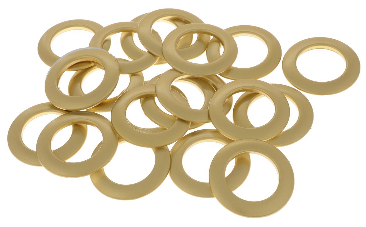 Набор люверсов Belladonna, цвет: матовое золото, диаметр 35 мм, 10 шт515540Набор Belladonna состоит из 10 люверсов, выполненных из пластика. Люверсы представляют собой кольца особой формы, которые служат для окантовки отверстий в разных материалах. Используются в качестве фурнитуры для кожгалантерейных, текстильных, обувных изделий, также подходят для бумаги и картона. Через люверсы продеваются шнурки, ленты, тесьма. Изделия Belladonna помогут воплотить вашу творческую задумку и добавят вдохновения для новых идей. Внутренний диаметр: 35 мм.