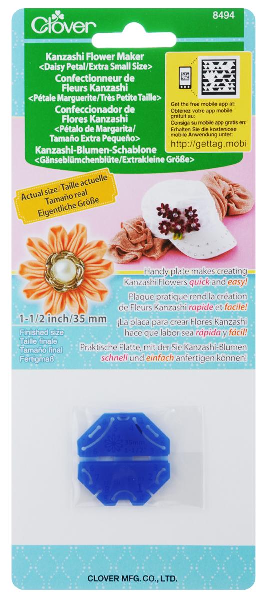 Шаблон для изготовления декоративных цветов Clover Маргаритка, 3,5 х 3,5 см8494Шаблон для изготовления декоративных цветов Clover Маргаритка выполнен из полипропилена. Такое изделие позволит быстро и легко изготовить украшение Канзаши. Канзаши - японские традиционные женские украшения для волос. Такими цветами можно украсить обручи, элегантные повязки, открытки, подушки и многое другое. Размер шаблона: 3,5 х 3,5 см. Размер готового изделия: 35 мм.