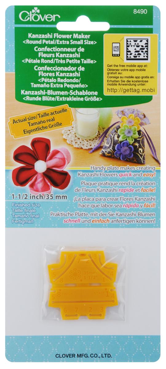 Шаблон для изготовления декоративных цветов Clover Закругленный лепесток, 4,2 х 4,2 см8490Шаблон для изготовления декоративных цветов Clover Закругленный лепесток выполнен из полипропилена. Такое изделие позволит быстро и легко изготовить украшение Канзаши. Канзаши - японские традиционные женские украшения для волос. Такими цветами можно украсить обручи, элегантные повязки, открытки, подушки и многое другое. Размер шаблона: 4,2 х 4,2 см. Размер готового изделия: 35 мм.