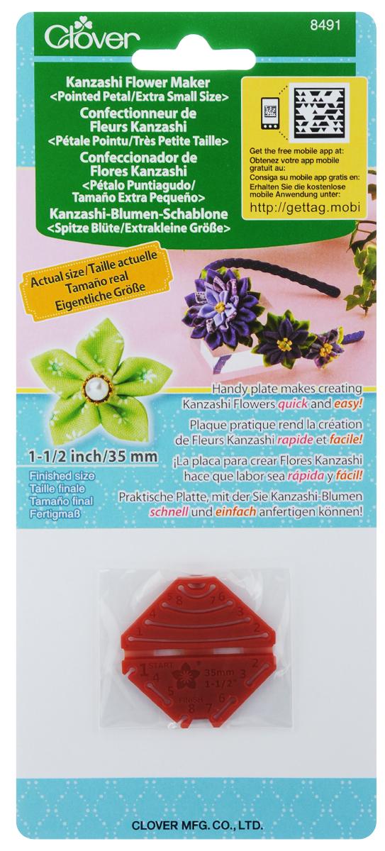 Шаблон для изготовления декоративных цветов Clover Заостренный лепесток, 4 х 4 см8491Шаблон для изготовления декоративных цветов Clover Заостренный лепесток выполнен из полипропилена. Такое изделие позволит быстро и легко изготовить украшение Канзаши. Канзаши - японские традиционные женские украшения для волос. Такими цветами можно украсить обручи, элегантные повязки, открытки, подушки и многое другое. Размер шаблона: 4 х 4 см. Размер готового изделия: 35 мм.