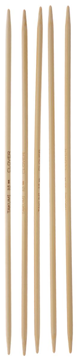 Спицы чулочные Clover, бамбуковые, прямые, диаметр 3,5 мм, длина 20 см, 5 шт3015Спицы для вязания Clover изготовлены из натурального бамбука. Спицы прочные, легкие, гладкие, удобные в использовании. Деревянные спицы предназначены для вязания чулок, шапочек, варежек, носков и других вещей. Вы сможете вязать для себя и делать подарки друзьям. Рукоделие всегда считалось изысканным, благородным делом. Работа, сделанная своими руками, долго будет радовать вас и ваших близких. Диаметр: 3,5 мм. Длина: 20 см. Комплектация: 5 шт.