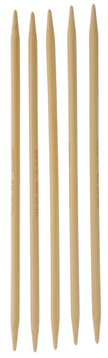 Спицы чулочные Clover, бамбуковые, прямые, диаметр 5,5 мм, длина 20 см, 5 шт3015Спицы для вязания Clover изготовлены из натурального бамбука. Спицы прочные, легкие, гладкие, удобные в использовании. Деревянные спицы предназначены для вязания чулок, шапочек, варежек, носков и других вещей. Вы сможете вязать для себя и делать подарки друзьям. Рукоделие всегда считалось изысканным, благородным делом. Работа, сделанная своими руками, долго будет радовать вас и ваших близких. Диаметр: 5,5 мм. Длина: 20 см. Комплектация: 5 шт.