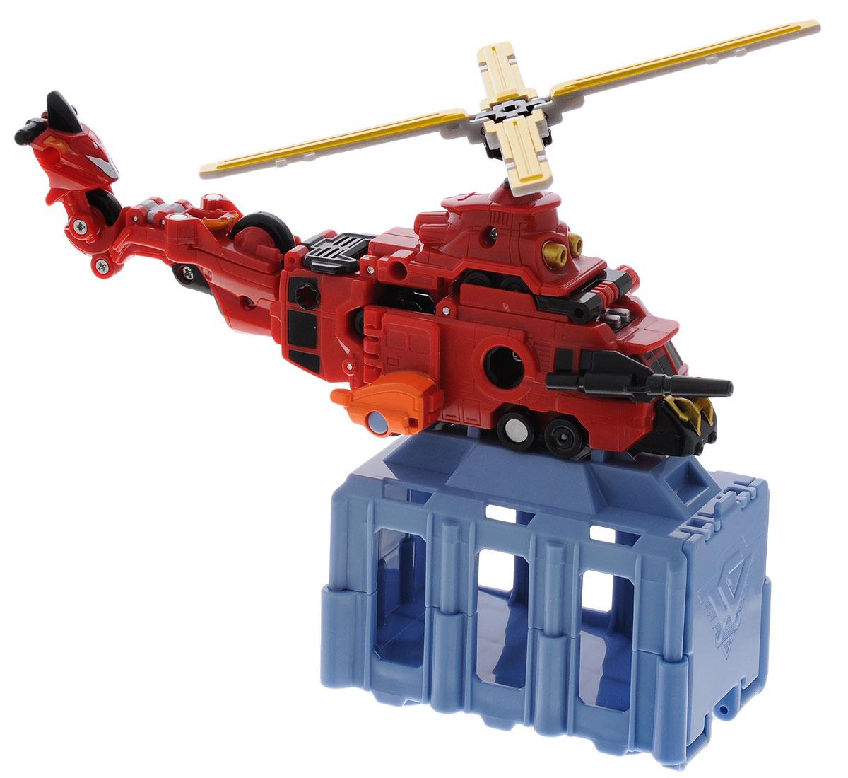 VooV Игровой набор Пожарно-спасательный вертолет84367Защитники Voov - это команда машинок-трансформеров, оборудованных специальными технологиями будущего. Они ежедневно патрулируют улицы города. Игровой набор Voov Пожарно-спасательный вертолет включает в себя пожарный скутер, пожарную машину, пожарную автолестницу, 2 плечевых соединительных элемента, пожарный брандспойт, грузовой контейнер, наклейки и инструкцию на русском языке. Входящие в набор машинки вместе трансформируются в гигантский вертолет. Ваш малыш часами будет играть с этим набором, придумывая различные истории.