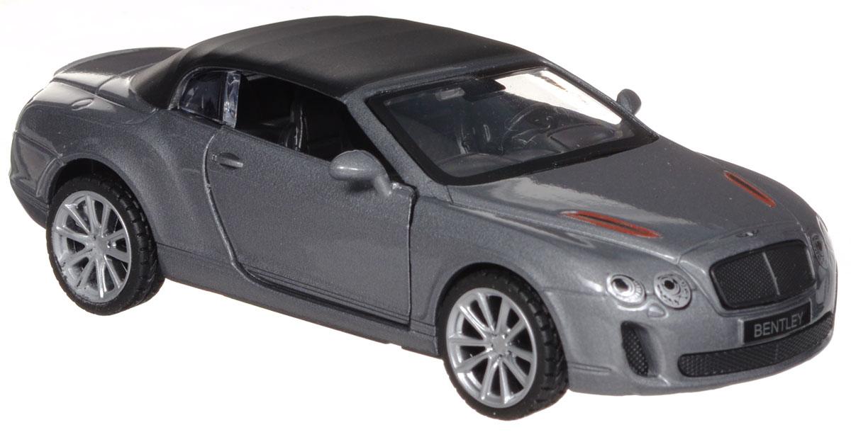 ТехноПарк Модель автомобиля Bentley Continental цвет серый67307_серыйМодель автомобиля ТехноПарк Bentley Continental, выполненная из металла, пластика и резины, станет любимой игрушкой вашего малыша. Игрушка представляет собой модель автомобиля Bentley Continental в масштабе 1:43. Дверцы модели открываются, а прорезиненные колеса обеспечивают надежное сцепление с любой поверхностью пола. Модель оснащена инерционным ходом: достаточно немного отвести ее назад, а затем отпустить - машинка быстро поедет вперед. Ваш ребенок будет часами играть с этой машинкой, придумывая различные истории. Порадуйте его таким замечательным подарком!