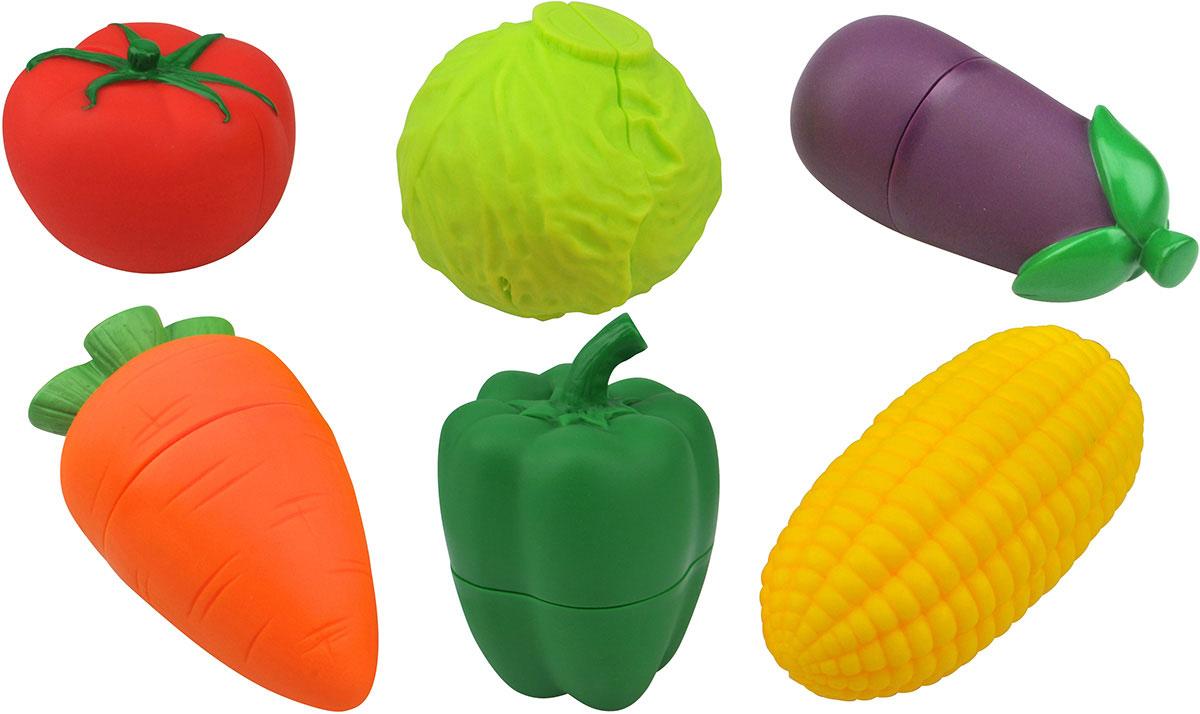 Ks Kids Развивающая игрушка ОвощиKA727Набор ярких и интересных фигурок Овощи от Ks Kids обязательно понравится малышке. В набор входит кукуруза, помидор, баклажан, морковка, капуста и перец. Каждый овощ состоит из двух половинок, что позволяет разрезать продукт для приготовления различных полезных блюд. Эта игрушка станет прекрасным подарком для будущих хозяек!