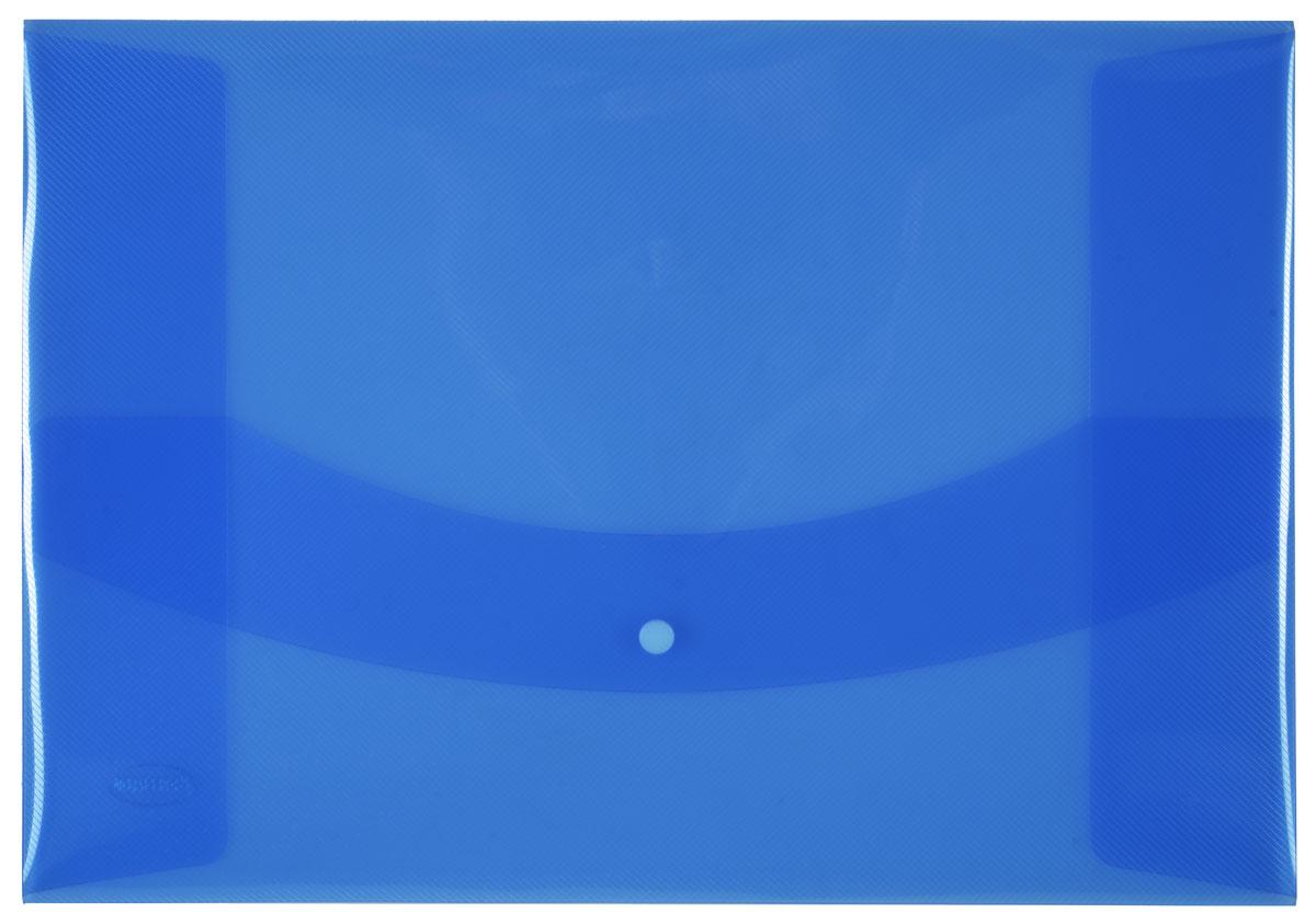 Centrum Папка-конверт на кнопке цвет голубой80626СПапка-конверт на кнопке Centrum - это удобный и функциональный офисный инструмент, предназначенный для хранения и транспортировки рабочих бумаг и документов формата А3. Папка изготовлена из полупрозрачного пластика, закрывается клапаном на кнопке. Папка-конверт - это незаменимый атрибут для студента, школьника, офисного работника. Такая папка надежно сохранит ваши документы и сбережет их от повреждений, пыли и влаги.