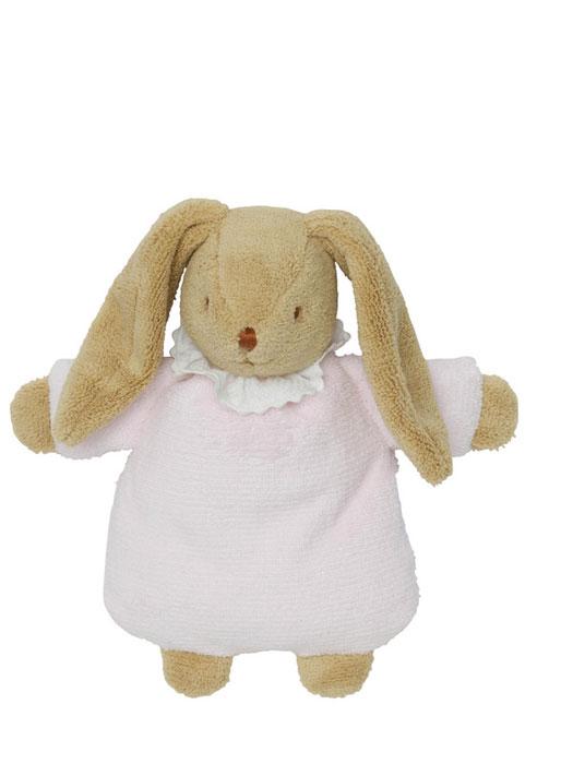 Trousselier Мягкая игрушка Зайка-погремушка цвет розовый 19 см - TrousselierV6341 03