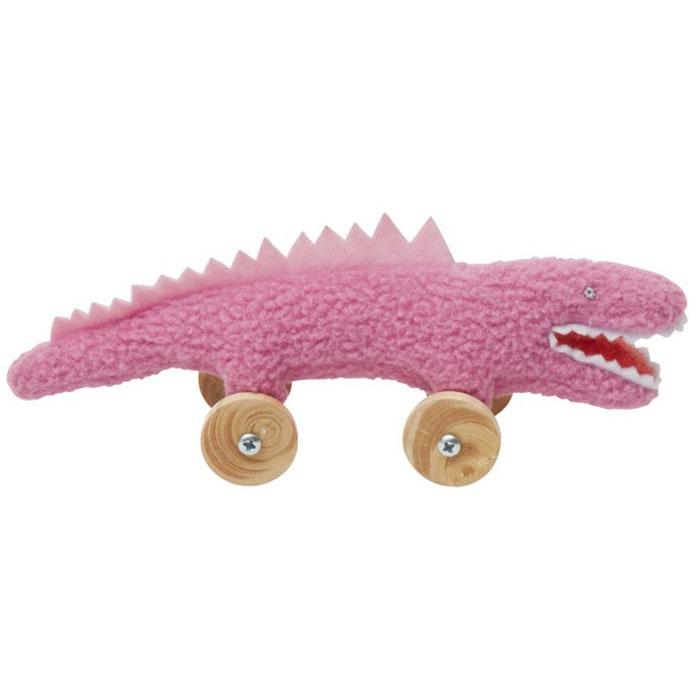 Trousselier Мягкая игрушка Крокодил на колесиках цвет фуксия 16 смV1079 02