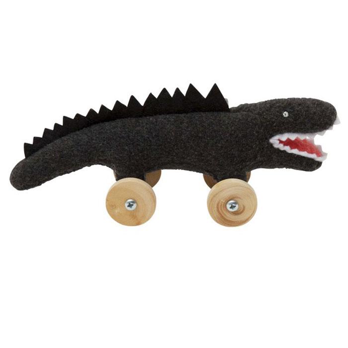 Trousselier Мягкая игрушка Крокодил на колесиках цвет черный 16 смV1079 03