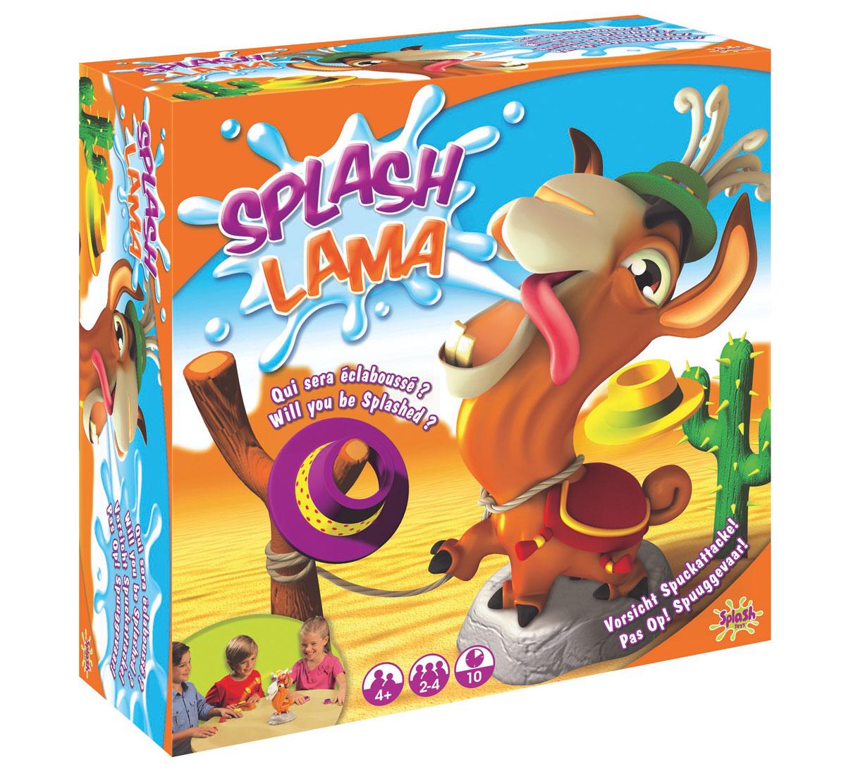 Splash Toys Настольная игра Хитрая Лама30107RUSНастольная игра Хитрая Лама - это не только очень забавная и веселая игрушка для активных детей, но и испытание на меткость и изворотливость. Хитрая Лама - известная модница и очень любит наряжаться. Игра заключается в том, чтобы нарядить ламу и накидать ей шляп. Шляпы должны попасть на специальные крючки на голове у ламы. А это не так просто: лама все время крутится. Берегитесь: если попасть ламе в нос или в ухо, она может плюнуть! Плюется лама водой. .