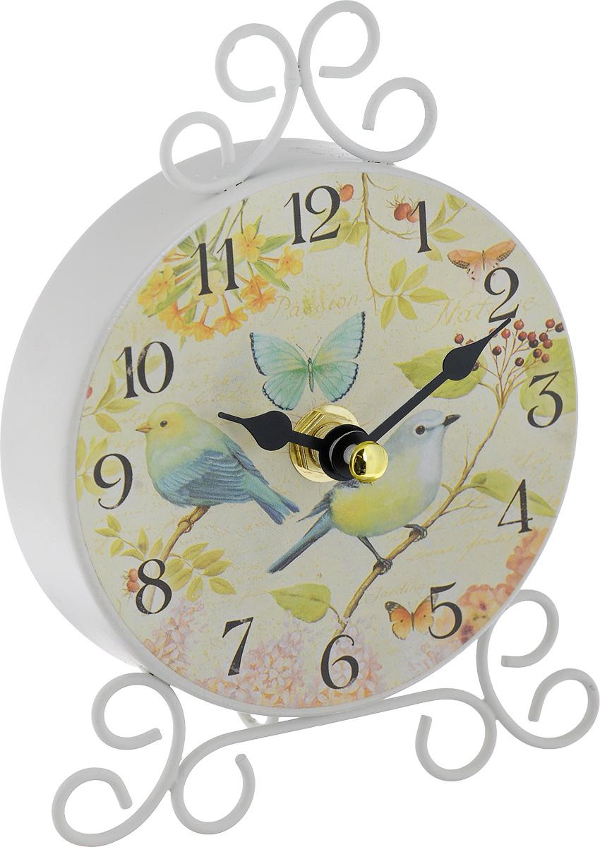 Часы настольные Феникс-Презент Дуэт40743Настольные часы Феникс-Презент Дуэт своим эксклюзивным дизайном подчеркнут оригинальность интерьера вашего дома. Часы выполнены из металла и имеют две стрелки - часовую и минутную. Настольные часы Феникс-Презент Дуэт подходят для кухни, гостиной, прихожей или дачи, а также могут стать отличным подарком для друзей и близких. ВНИМАНИЕ!!! Часы работают от сменной батареи типа АА 1,5V (в комплект не входит).