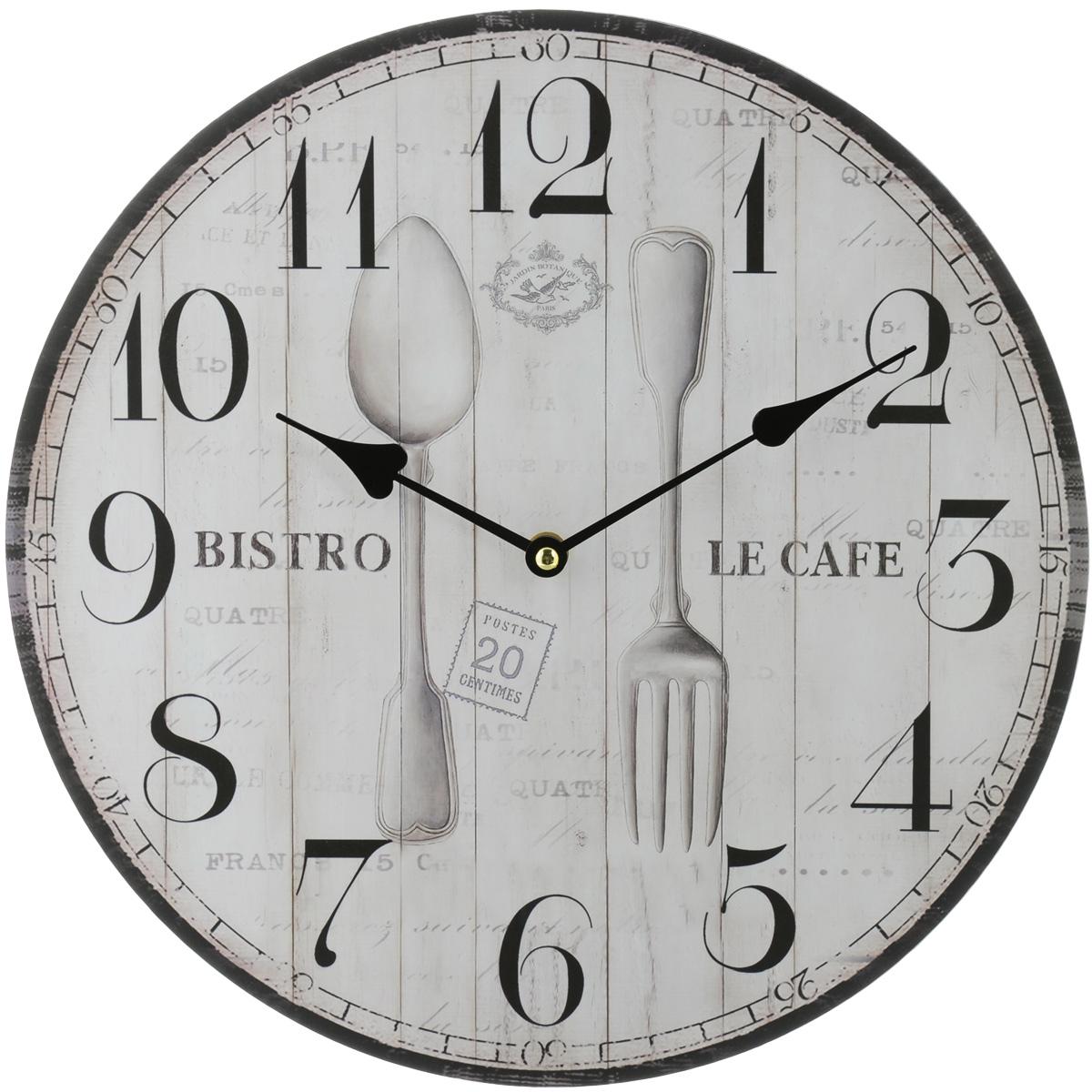 Часы настенные Феникс-Презент Бистро, диаметр 34 см