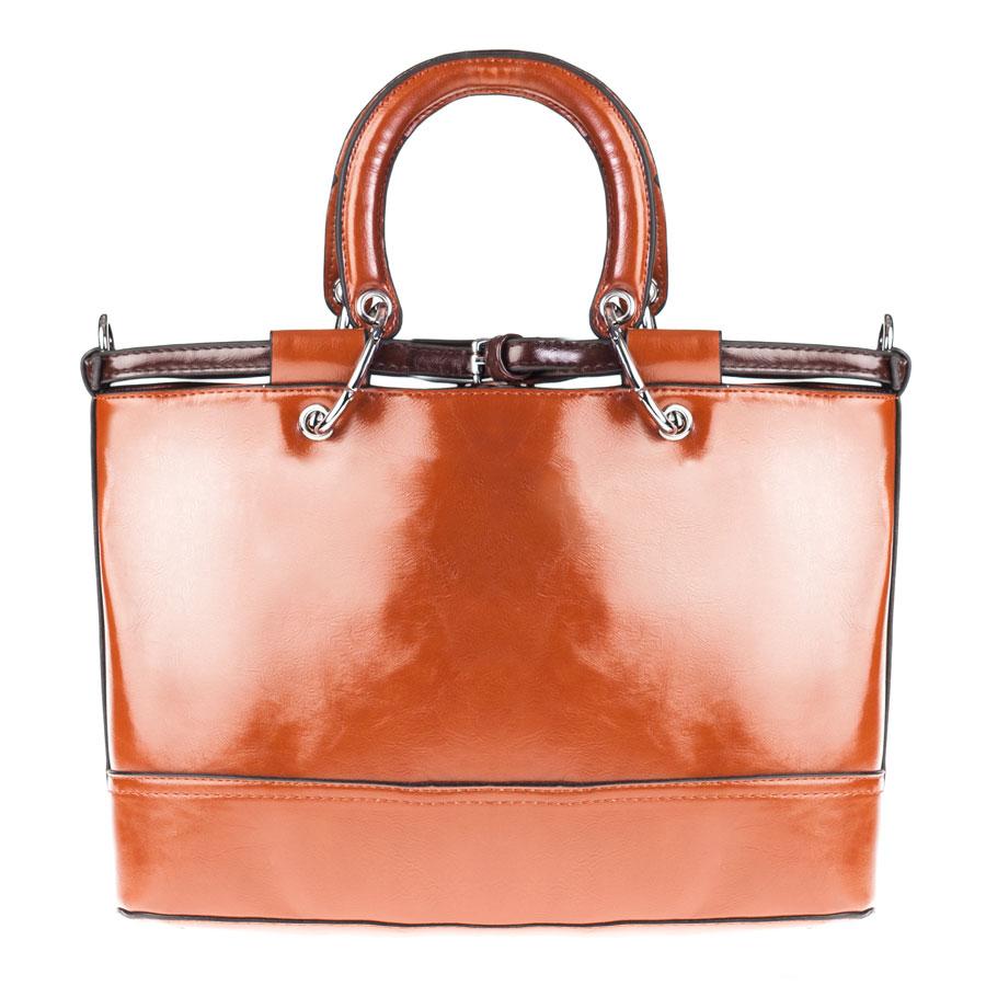 Сумка женская Orsa Oro, цвет: коричневый. D-128/10D-128/10Стильная женская сумка Orsa Oro выполнена из искусственной кожи, декорирована металлической фурнитурой. Изделие содержит одно отделение, которое закрывается на молнию. Внутри расположены четыре накладных кармашка для мелочей, один из которых закрывается на застежку-молнию, и врезной карман на молнии. Задняя сторона изделия дополнена врезным карманом на молнии. Сумка оснащена удобными съемными ручками и съемным плечевым ремнем регулируемой длины. Дно сумки дополнено металлическими ножками, которые защитят изделие от преждевременных повреждений. Оригинальный аксессуар позволит вам завершить образ и быть неотразимой.