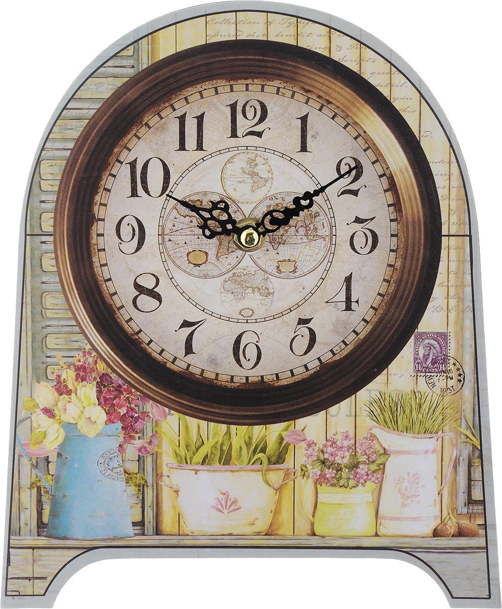 Часы настольные Феникс-Презент Кашпо, 20 х 24 х 4,5 см35850Настольные часы Феникс-Презент Кашпо своим эксклюзивным дизайном подчеркнут оригинальность интерьера вашего дома. Циферблат оформлен изображением цветочных горшков. Часы выполнены из МДФ. МДФ (мелкодисперсные фракции) представляет собой плиту из запрессованной вакуумным способом деревянной пыли и является наиболее экологически чистым материалом среди себе подобных. Часы имеют две стрелки - часовую и минутную. Настольные часы Феникс-Презент Кашпо подходят для кухни, гостиной, прихожей или дачи, а также могут стать отличным подарком для друзей и близких. ВНИМАНИЕ!!! Часы работают от сменной батареи типа АА 1,5V (в комплект не входит).