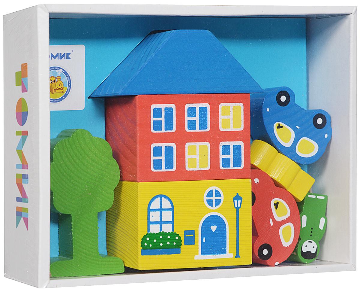 Томик Конструктор Цветной городок цвет голубой8688-3Яркий конструктор Томик Цветной городок, выполненный из дерева привлечет внимание вашего ребенка. С помощью конструктора ребенок сможет построить маленький городок с деревьями, фигурками людей и машинами. Дети часто используют построенные сооружения в своих сюжетных играх, поэтому в наборах конструкторов имеются фигурки машин, деревьев и людей. Малыш сможет не только построить целый город, но и как настоящий волшебник наполнить его жизнью. А придумывая сюжеты игр, ребенок развивает воображение, связную речь, овладевает навыками ролевого поведения.