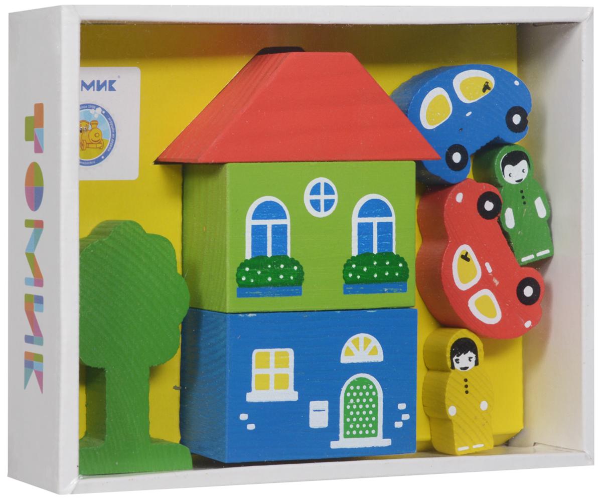 Томик Конструктор Цветной городок цвет желтый8688-1Конструктор Томик Цветной городок - яркий деревянный конструктор, с помощью которого ребенок сможет построить маленький городок с деревьями, фигурками людей и машинами. Дети часто используют построенные сооружения в своих сюжетных играх, поэтому в наборах конструкторов имеются фигурки машин, деревьев и людей. Малыш сможет не только построить целый город, но и как настоящий волшебник наполнить его жизнью. А придумывая сюжеты игр, ребенок развивает воображение, связную речь, овладевает навыками ролевого поведения.